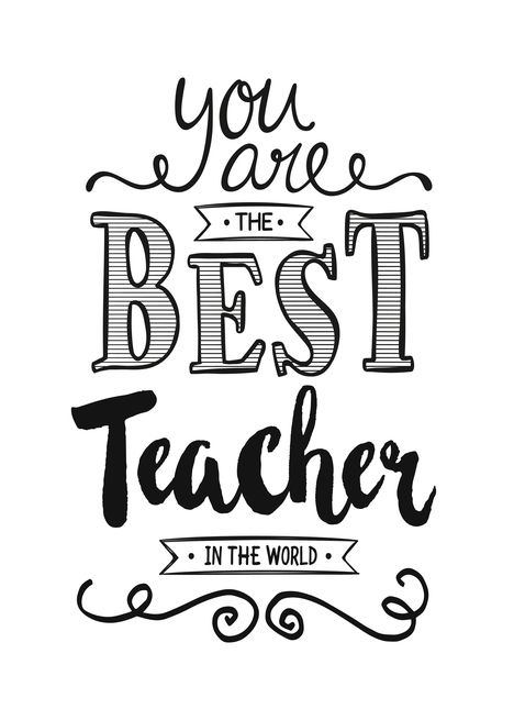 Teacher Appreciation Day Best Teacher In The World Card Ad Affiliate Appreciation Teacher Thanks Card Happy Anniversary Quotes Happy Grandparents Day