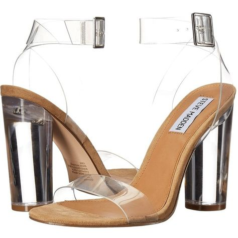 dafba5d0f0f Steve Madden Clearer (Clear) Women's Shoes ($110) ❤ liked on ...