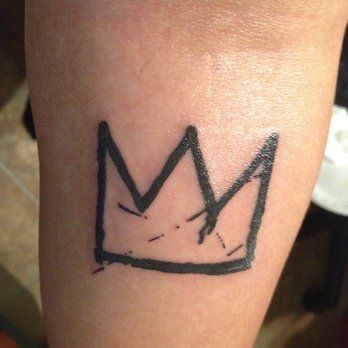 Basquiat's Crown: bold, clean lines. Tattoo done by Thea Fear. | Yelp