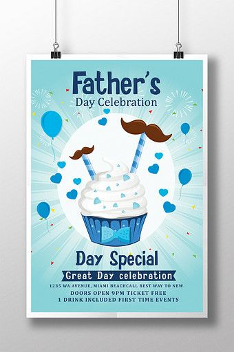 Father S Day Treat Poster Flyer Templates With Ice Cream Psd Free Download Pikbest Flyer Template Fathers Day Flyer