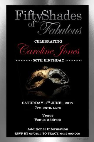 Fifty Shades Of Grey Printable Ideas Invitationsbirthday Invitations For Women