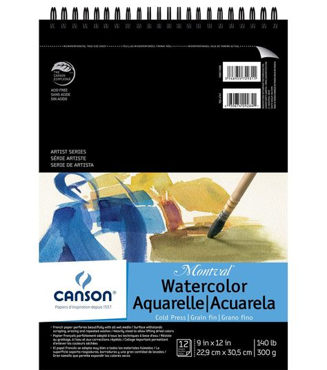 Canson Montval 9 X12 Watercolor Double Wire Binded Paper Pad