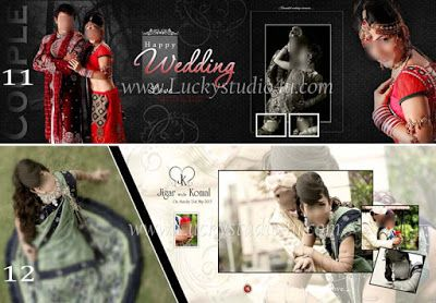 Free Download Wedding Album Psd Templates 12x36 Collection For