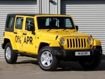 Used 2014 15 Reg Yellow Jeep Wrangler 2 8 Crd Sahara 4dr Auto For Sale On Rac Cars