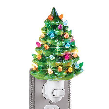 Ceramic Christmas Tree Night Light 6 H Nostalgic Decorative Bathroom Decoration Walmart Com Christmas Tree Night Light Ceramic Christmas Trees Night Light
