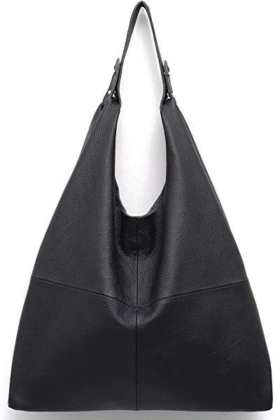 83c328e0cc51 Amazon.com: STEPHIECATH Women's Handbag Genuine Leather Slouchy Hobo ...