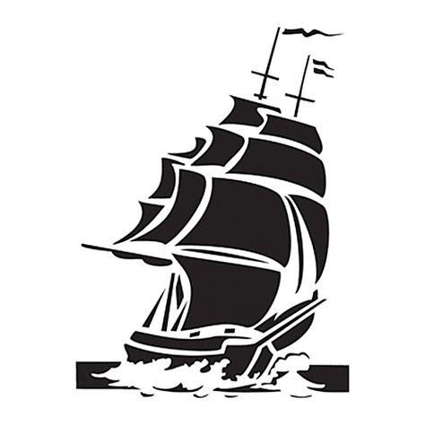 "11/"" TUGBOAT BOAT STENCIL TEMPLATE NAUTICAL SEA OCEAN STENCILS BEACH CRAFT ART"