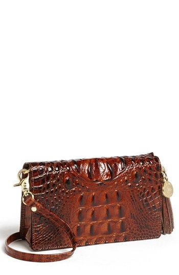 44ae24619 Brahmin 'Melbourne - Amelia' Croc Embossed Leather Crossbody Clutch  available at #Nordstrom