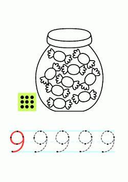 9 Rakami Calisma Sayfasi Boyama Sayfalari Matematik Ve Yazma
