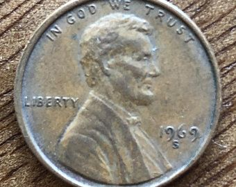 1969 D Penny Error Floating Roof With Missing Artist Initials In 2020 Initials Penny Coin Collecting
