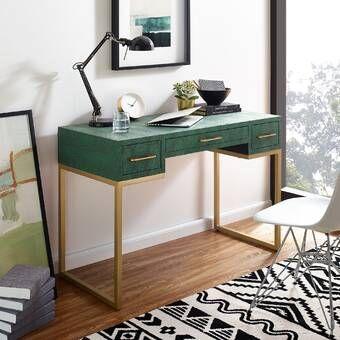 Wrought Studio Masha Writing Desk Wayfair Furniture Classic Desk Retro Desk