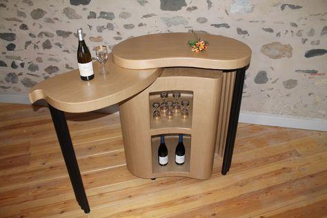 Bar Ou Comptoir Avec Plateau Amovible Vendre Et Acheter Des Meubles En Carton Avec Images Meuble En Carton Mobilier De Salon