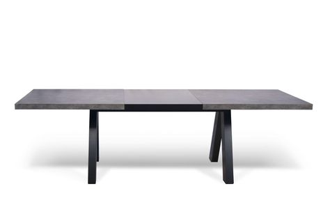 Table A Manger Extensible Design Noir Mat Et Beton Kallai Table