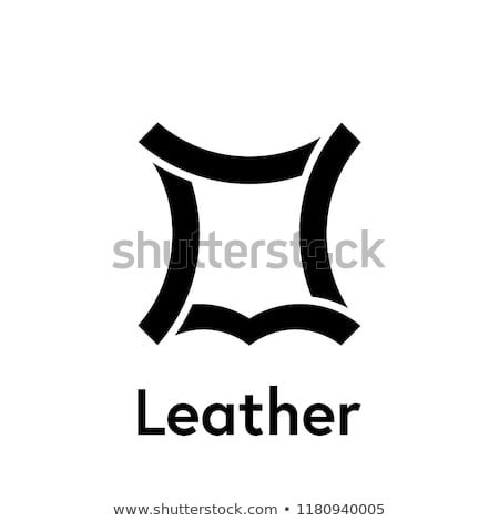 Leather Logo Icon Vector Recycled Leather Symbol Con Imagenes