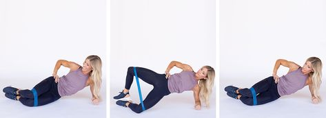 8 Sculpting Banded Moves You Can Do Anywhere Heidi Powell Resistance Band Workout Band Workout Resistance Band