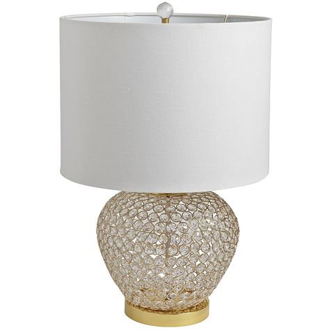 Clear Crystal Bead Urn Lamp Gold Gold Bedside Lamps Lamp