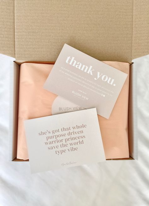 Boutique packaging. Tissue Paper. Thank you note. Ecommerce packaging.