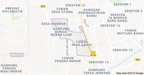 Map of Kampung Sungai Merab Luar, Kajang, Selangor | Map