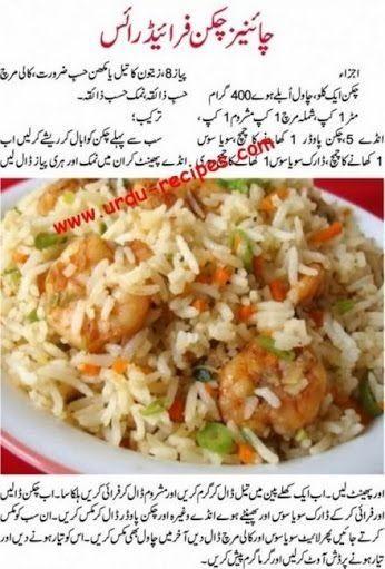 Chinese Chicken Fried Rice Recipe in Urdu www.urdu-recipes ...