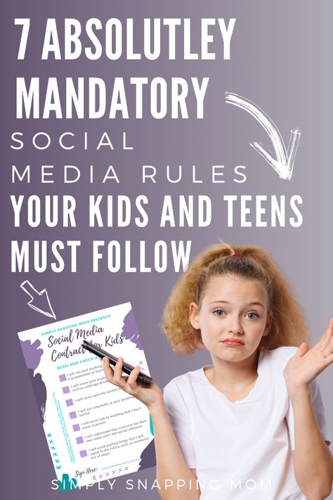 Social Media Rules for Kids and Teens