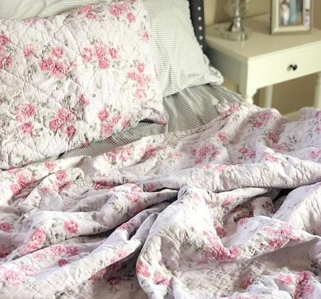 Simply Shabby Chic Bedding Shown In