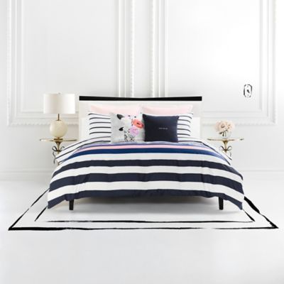 Dress Your Bed In Unique Style With The Kate Spade New York Chesapeake Stripe Duvet Cover Set Decked O Luxury Bedding Sets Striped Duvet Covers Luxury Bedding