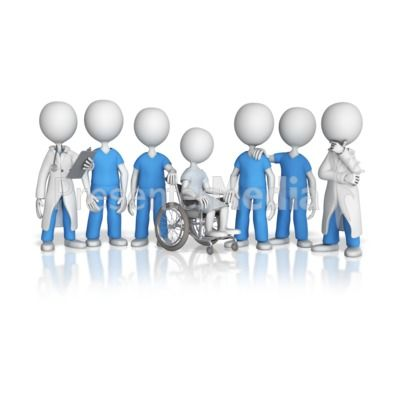 Patient Surrounded By Medical Team Great Powerpoint Clipart For Presentations Presentermedia Com Medical Team Animated Clipart Medical
