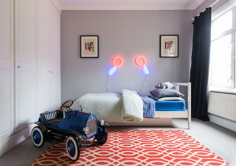 Vivid Whim - Inside An English Designer's Home FILLED With Neon - Photos