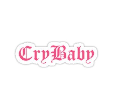 Lil Peep Cry Baby Vinyl Decal Cry Baby Tattoo Sticker Over When You Re Sober Cry Baby Tattoo Lil Peep Tattoos Baby Tattoos
