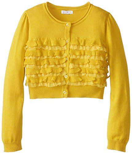 Petit Lem Little Girls' London Style Sweater, Mustard, 4/5 ...