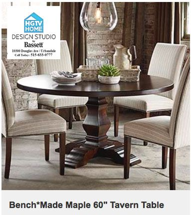 Home Round Wood Dining Table
