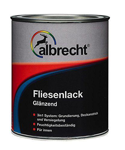 Albrecht Fliesenlack Weiß Glänzend 750ml Fliesenlack