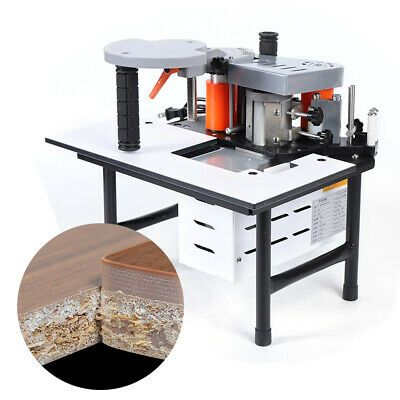 Sponsored Ebay 110v Edge Banding Machine Portable Wood Pvc Two Sided Gluing Edge Bander 765w In 2020 Woodworking Portable Metal Working