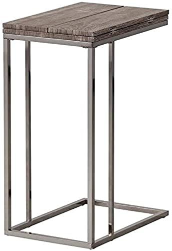 Beautiful Bowery Hill Casual End Table In Weathered Gray And Black