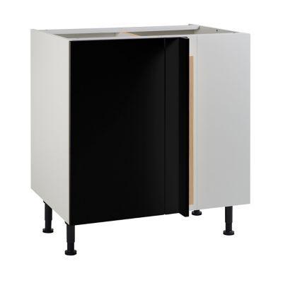 Meuble De Cuisine Ice Noir D Angle Facade 1 Porte 1 Tiroir Kit