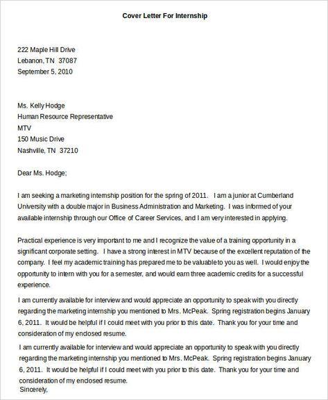 Upenn Cover Letter.Image Result For Sample Of Internship Letter Colman Job