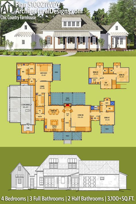 Exquisite South Carolina farmhouse evoking a low country style - fresh construction blueprint reading certification