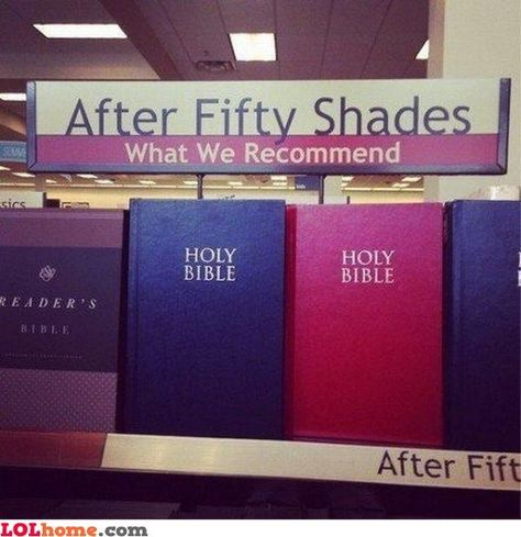 """This post-Fifty Shades recommendation, which makes sense. Both filled with exclamations of """"Oh, God!"""""""