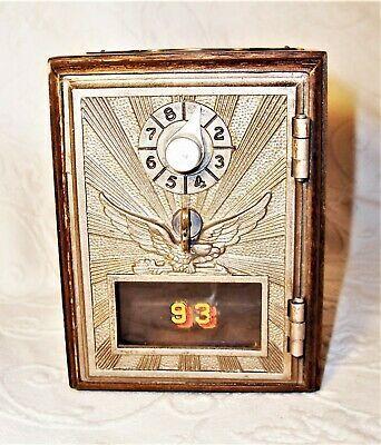 Vintage 1950/'s U.S Post Office box door brass combination Keyless Lock Co.