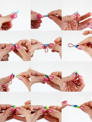 Rubber band bracelet DIY w/o loom