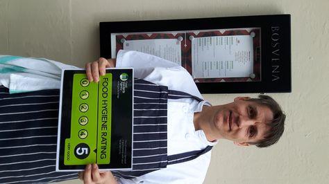Bosvena In Bodmin Have A 5 Star Food Hygiene Rating Star