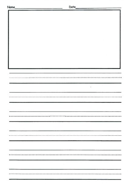 Free 2nd Grade Writing Template This is front  back and they can