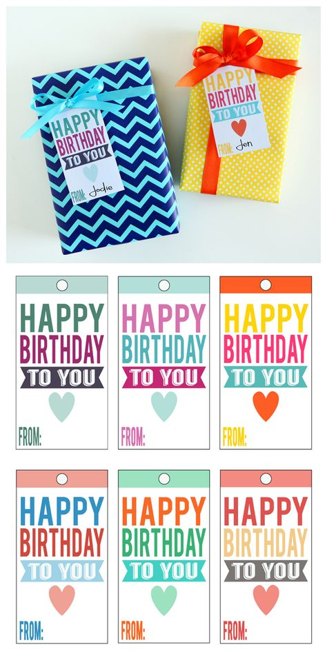 image about Birthday Tag Printable known as Pinterest