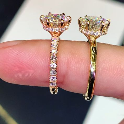 2.00ct Round Moissanite and Diamond Ring