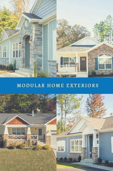 First Impressions Are Key Especially When It Comes To The Exterior Of Your Home House Exterior Modular Home Designs Mobile Home Exteriors