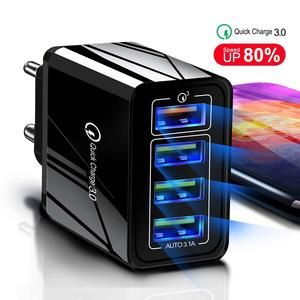 48w Quick Charger 3 0 Usb Fast Wall Charger Us Eu Uk Plug Adapte Peaceloversart By Miranda Usb Chargers Samsung Tablet Phone Charger