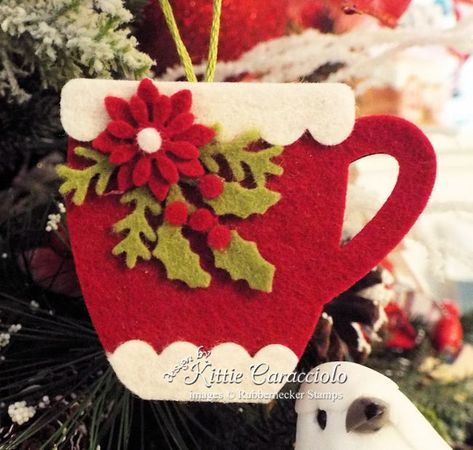 felt creations Today I'm sharing cozy handmade felt Christmas ornaments embellished with pretty poinsettias, evergreen and holly branches. Diy Gifts For Christmas, Felt Christmas Decorations, Beaded Christmas Ornaments, Handmade Christmas Crafts, Diy Ornaments, How To Make Ornaments, Homemade Christmas, Christmas Christmas, Glass Ornaments