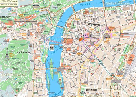 Aerial Street Maps World Maps And En 2020 Mapa De Praga Praga