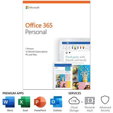 Electronics Office 365 Personal Microsoft Office Microsoft