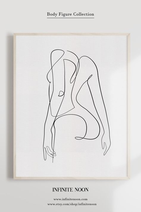 Abstract One Line Female Illustration Printable Wall Art.